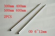 2PCS OD 6-12mm x 300-600mm CNC Linear Rail Shaft Rod Cylinder Optical Axis