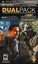 2-Pack Syphon Filter Dark Mirror/Socom US Navy Seals Fireteam Bravo Sony PSP NEW