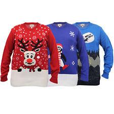 Hombre Big Tamaño King 3d suéteres de Navidad D555 DUKE PUNTO Pingüino Rudolph