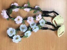 Floral hair bandeaux fabric elastic headband flower hairband festival  band
