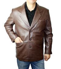 Men's Genuine Soft Baby Lamb Brown Blazer Style LM 882