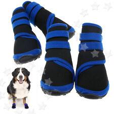 Neopren Hundestiefel S/M/XL Wasserfeste Hunde Schuhe 4Pc Haustier Blau