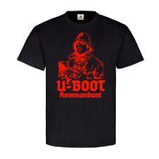 U-Boot comandante marina da guerra travi RK Lupo Grigio T-shirt #23116