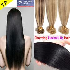8A 1G Pre Bonded Keratin Fusion Nail U Tip Glue Remy Human Hair Extensions C21