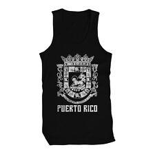 Puerto Rico Coat of Arms Borinquen Pride Puertorriqueño Boricua Mens Tank Top