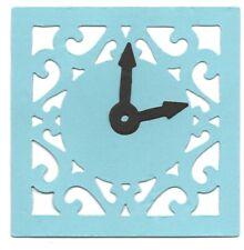 10 Reloj Filigrana Con Manos Sizzix Die Cut Time Watch tarjeta haciendo 9x9cm Crafts