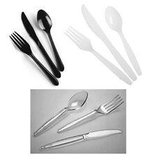 Cutlery Strong Heavy Duty Reusable Disposable Plastic / Dessert Dinner Starter