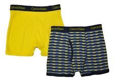 Calvin Klein Boys Gray Yellow 2pk Boxer Briefs Size 4/5 6/7 8/10 12/14 16/18