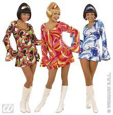 S5804 Sexy Fancy Dress 1970s Years Lady Hippie Flower Power Theme party S to XL