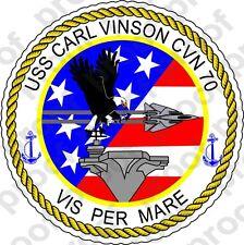STICKER USN US NAVY CVN 70 USS CARL VINSON CARRIER  B