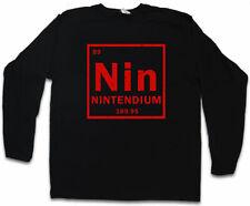 NIN LANGARM T-SHIRT Tendium Nintendium Element Periodic Table NES Pc Console