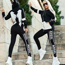 By Alina Mexton 2-Teiler Damen Jacke + High-Waist Leggings Freizeitanzug XS S M