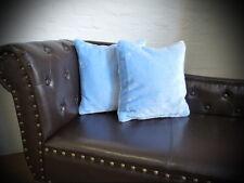 Kissen Kissenhülle Dekokissen im Glanz-Design hell blau - Größe wählbar!