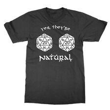 Sí son naturales 20s Unisex Camiseta Dungeons and Dragons D y D Camiseta Gracioso