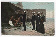 Left Hand Pistol Target Practice Navy 1910c postcard