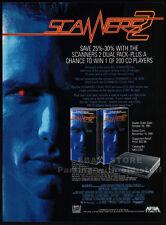 SCANNERS 2: The New Order__Original 1991 Trade AD / movie promo__DAVID HEWLETT
