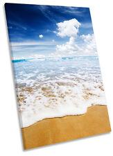 Lienzo Enmarcado Beach Surf Wave paisaje pared arte Foto impresión