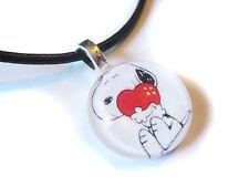 Snoopy Love Glass Bubble Pendant Necklace