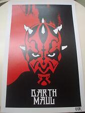 Star Wars Darth Maul movie poster print