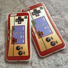 iPhone 6 6S 6S+ Plus - Hard TPU Rubber Gummy Case Cover Retro Mario Controller