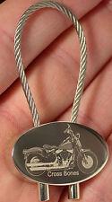 Harley Davidson Cross Bones Schlüsselanhänger Fotogravur Keyring HD Gravur