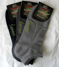 3 Paar Herren Bambus Sneaker Socken Füßlinge 3 Grau Töne  39 bis 46