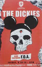 THE DICKIES / FOA 2012 SAN DIEGO CONCERT TOUR POSTER-Alternative Punk Rock Music