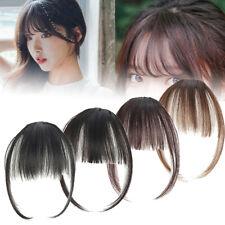 Femme Cheveux Faux Perruque Air Bangs Extension Courtla Frange Fringe clip face