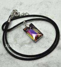 Purple Rainbow Austrian Crystal Pendant or Choker Necklace Ladies Gift Reiki