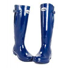 Gummistiefel Rockfish Damen Wasserfest Stiefel navy blau verstellbare Weite