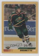 2003-04 O-Pee-Chee Gold #255 Andrew Brunette Minnesota Wild Hockey Card