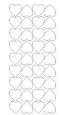 """White 1"""" Heart Stickers BRIDAL SHOWER Wedding Envelope Seals School arts Crafts"""