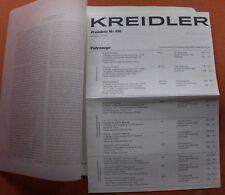 KREIDLER 1971 PROSPEKT MOFA MOPED FLORETT PREISLISTE