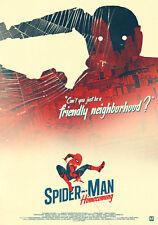 Spiderman Marvel Movie Poster Print T660 de regreso a casa