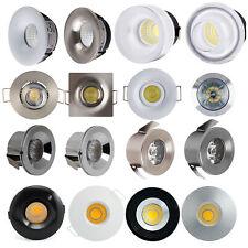 COB LED Einbauleuchte Einbauleuchten Einbaustrahler Minispot Chrom weiss Silber