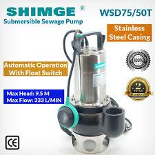 Shimge Stainless Steel Casing Submersible Sewage Pump WSD75/50T