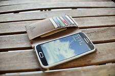 Handmade Samsung Galaxy S5 Case Genuine Rustic Real Leather Dark Brown RRP $75