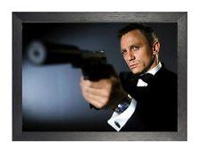 James Bond 007 Classic Film Movie Daniel Craig English Actor Gun Poster Photo