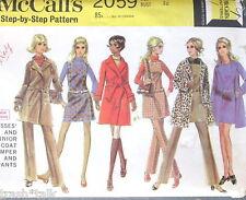 Vtg 60s MOD boho pattern coat jumper sz 14 B36 FF