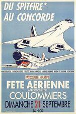 Vintage french air show concorde affiche d'impression A3