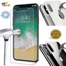 KIT Protezione Vetro ANTERIORE Trasparente POSTERIORE Bianco - Nero per iPhone X