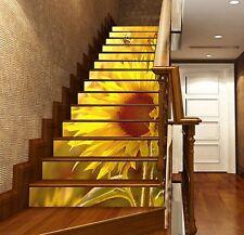 3D Sunflower Sun Stair Risers Decoration Photo Mural Vinyl Decal Wallpaper UK
