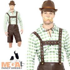 Bavarian Man Mens Fancy Dress Lederhosen German Beer Oktoberfest Adults Costume