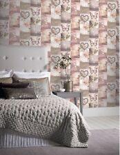 Arthouse Love Paris Romance Jewel heart Love Glitter Wallpaper Blush 691107