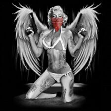 Sexy Marilyn Monroe Gangster Tattoo Angel Wings Guns Up T-Shirt Tee