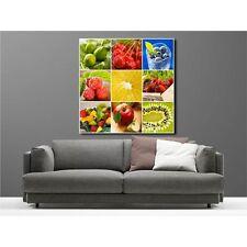 Tableaux toile déco carré multifruits 9025344