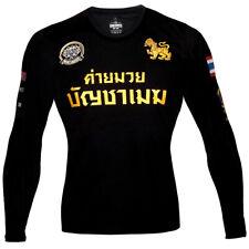 BUAKAW BANCHAMEK T-SHIRT LONG SLEEVE MUAY THAI BOXING MMA TSHIRTS BOON LUMPINEE