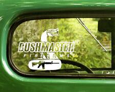 2 BUSHMASTER ASSAULT RIFLES DECALs Sticker For Car Window Bumper Laptop Truck