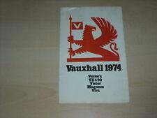 36058) Vauxhall Ventora VX490 Victor Viva Magnum Prospekt 1974