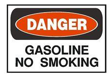 Danger Gasoline No Smoking OSHA Safety Sign Sticker D195